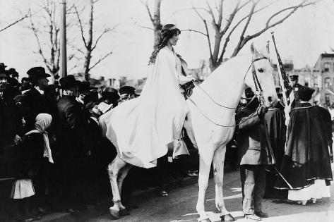 Woman on Horse Woman's Suffrage Parade Photograph - Washington, DC Art Print