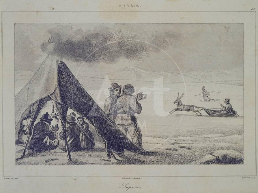 Laplander In A Tent Lapland 19th Century Giclee Print At Allposterscom