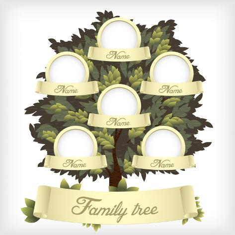 Family Tree.Vector Illustration. Stampa artistica