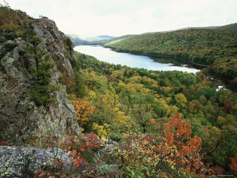 Porcupine Mountains Wilderness State Park in Autumn, Michigan, USA Photographic Print
