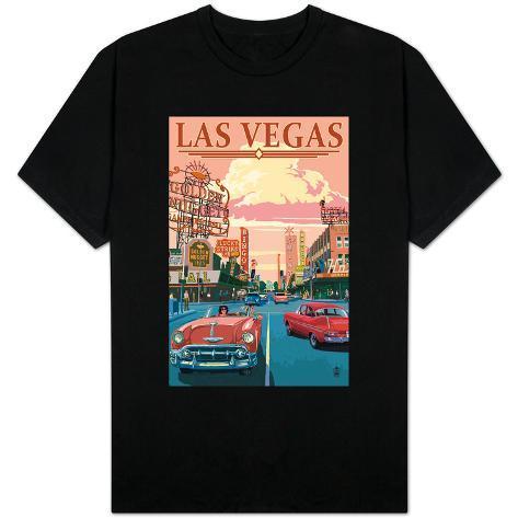 Las vegas old strip scene shirts at for Las vegas shirt printing