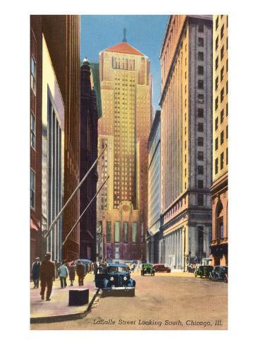LaSalle Street, Chicago, Illinois Art Print