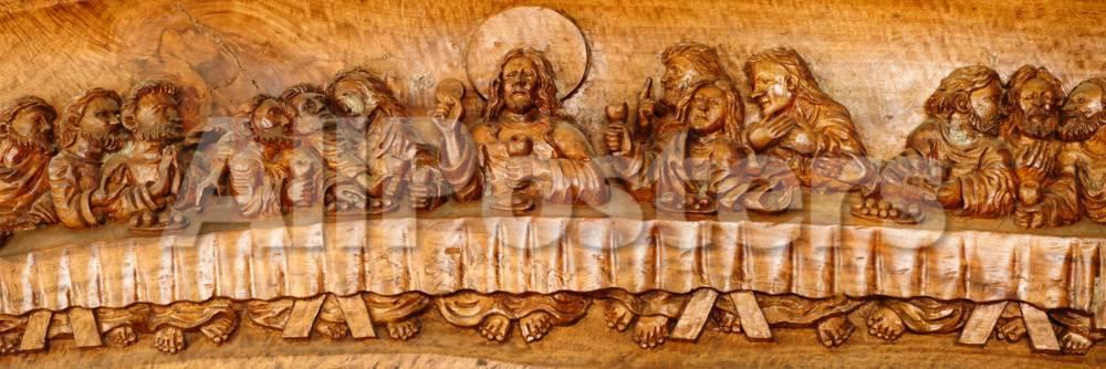 Last Supper Sculptures Carving On Wall Vigan Ilocos Sur Philippines