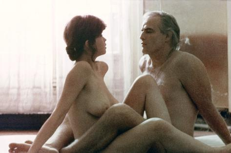 Last Tango in Paris 1972 Directed by Bernado Bertolucci Maria Schneider and Marlon Brando Photo
