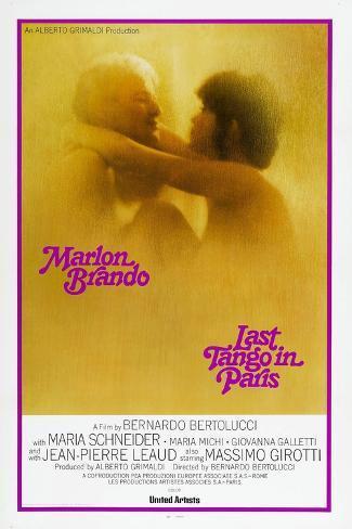 Last Tango in Paris, Marlon Brando, Maria Schneider, US poster, 1972 Stampa artistica