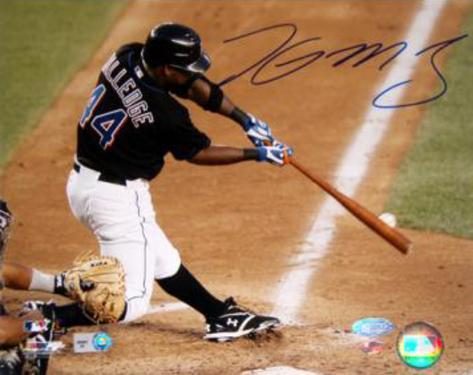 Lastings Milledge Swing Vs. Pirates Autographed Photo (Hand Signed Collectable) Photo