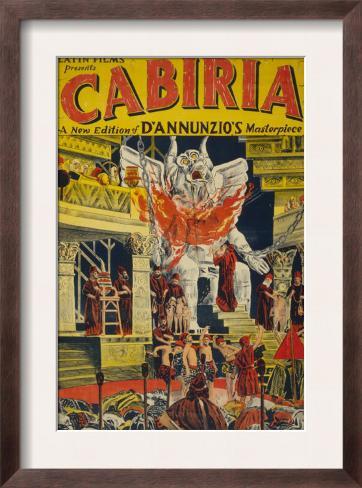 Latin Films presents Cabiria, c.1914 Framed Art Print