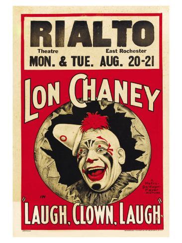 Laugh, Clown, Laugh, 1928 Premium Giclee Print