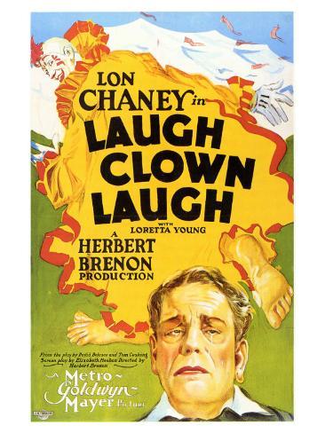Laugh, Clown, Laugh, 1928 Art Print