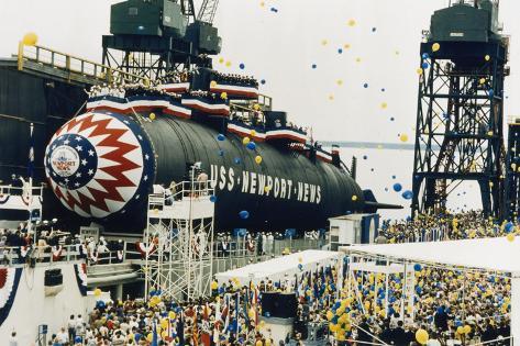 Launching of the Uss Newport News Lámina fotográfica