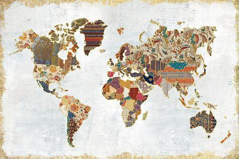 Pattern world map prints by laura marshall at allposters pattern world map gumiabroncs Choice Image