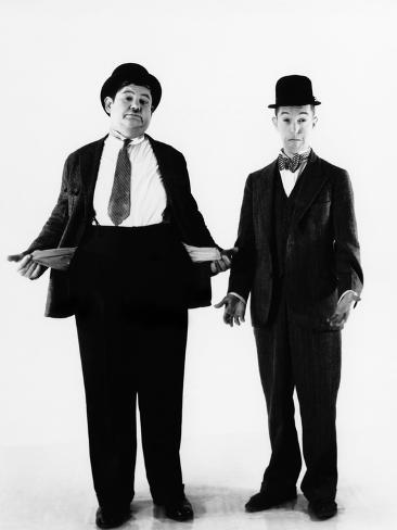 Laurel and Hardy, ca. 1930s Photo