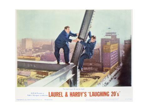Laurel and Hardy's Laughing 20's - Lobby Card Reproduction Premium Giclee Print
