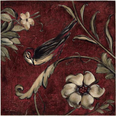 Crimson Song Bird No.3 Art Print