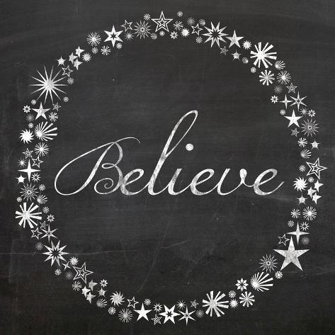 Believe Stars Art Print
