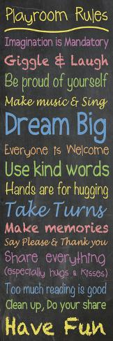 Playroom Rules Chalk Art Print