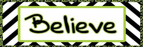 Tween Believe Green Art Print