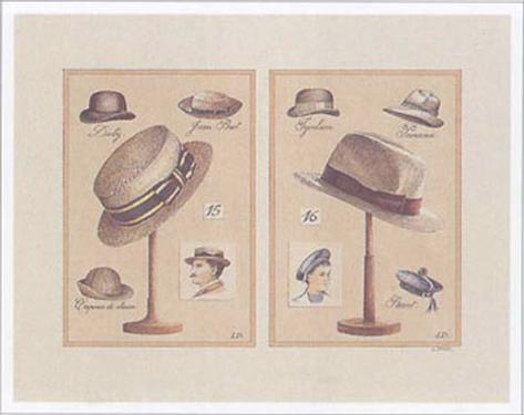 Chapeaux Hommes Art Print