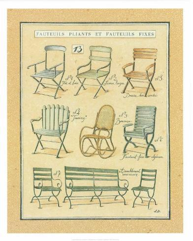fauteuils pliants et fauteuils fixes xiii posters by laurence david. Black Bedroom Furniture Sets. Home Design Ideas
