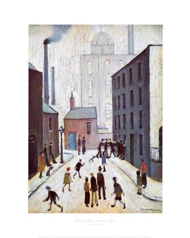 Industrial Scene, 1953 Art Print