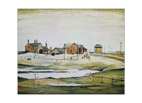 Landscape with Farm Buildings Art Print