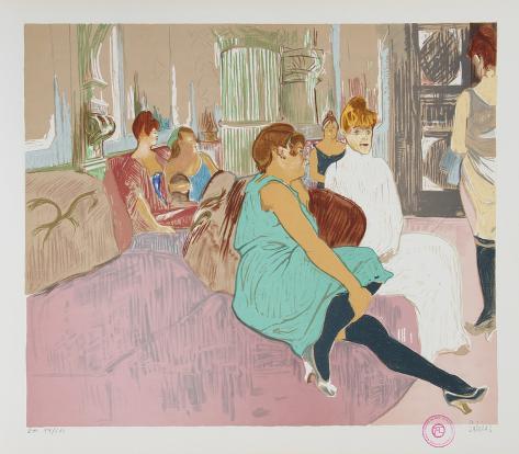Salon After Toulouse-Lautrec Stampa da collezione