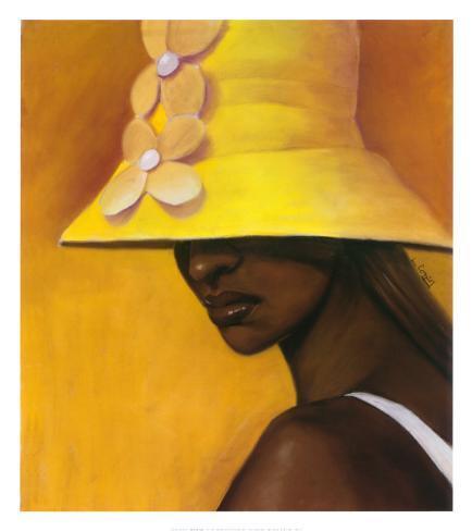 Sombrero amarillo Póster por Laurie Cooper en AllPosters.es 0e342fe612b