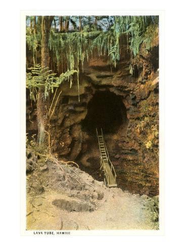 Lava Tube, Hawaii Art Print