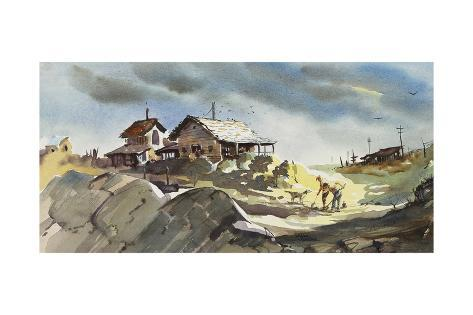 Digging Boys At Work Giclee Print By Lavere Hutchings At