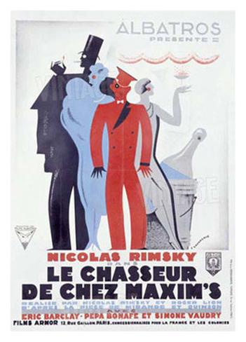 Chasseur Chez Maxim's Impressão giclée