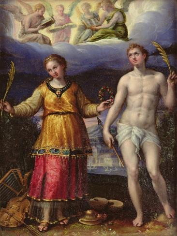 St.Sebastian and St.Cecilia Lámina giclée
