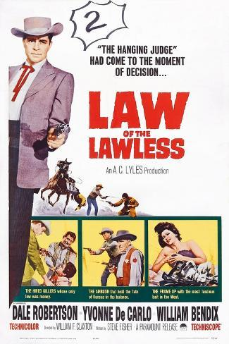 Law of the Lawless, 1964 Art Print
