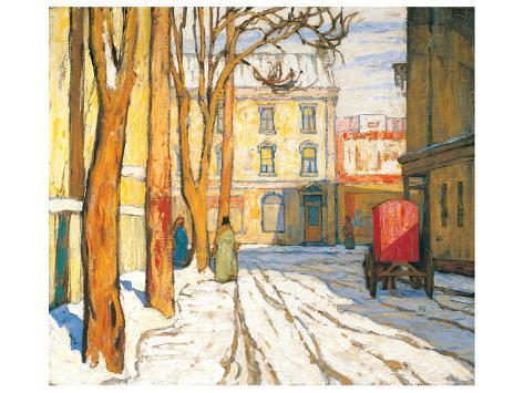 Toronto Street, Winter Morning Premium Giclee Print