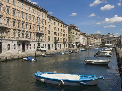 Canal Grande, Trieste, Friuli-Venezia Giulia, Italy, Europe Photographic Print
