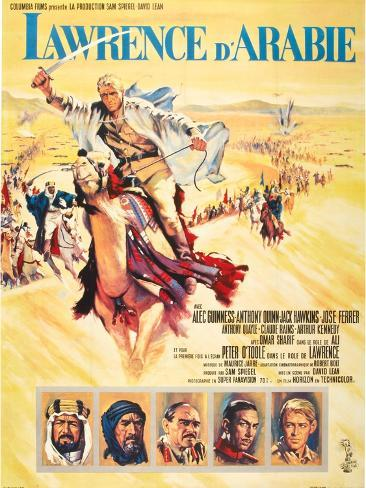 Lawrence of Arabia (aka Lawrence D'Arabie) Impressão artística