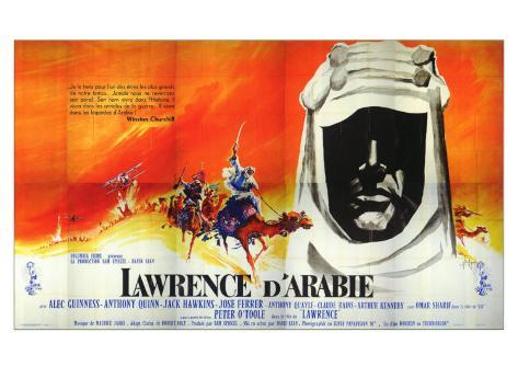 Lawrence of Arabia, French Movie Poster, 1963 Art Print