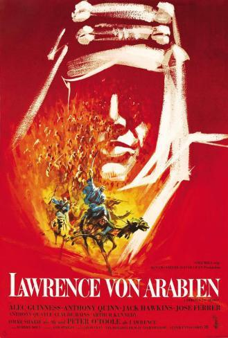 Lawrence of Arabia - German Style Poster