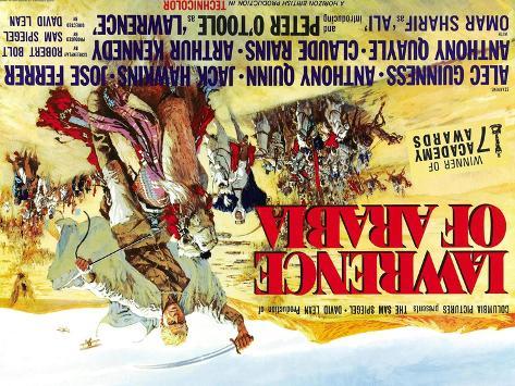 Lawrence of Arabia, UK Movie Poster, 1963 Art Print