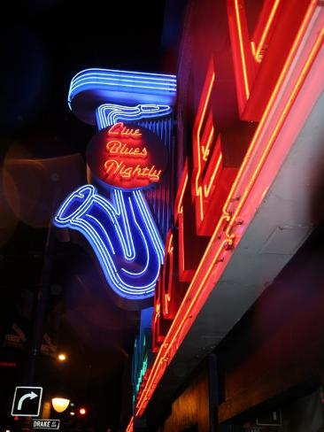 Neon Sign for the Yale Hotel Blues Club, Vancouver, Canada Photographic Print