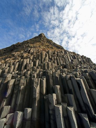 Columnar basalt along Iceland's South Coast Photographic Print