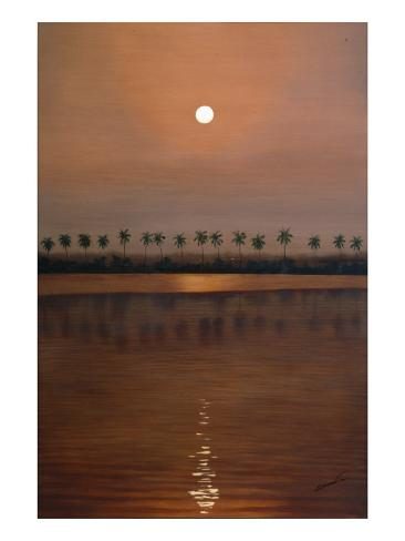 Burma Sunset Giclee Print