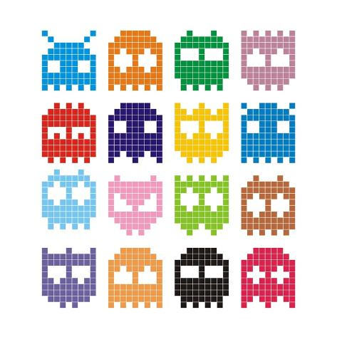Pixel Monster Icon Art Print