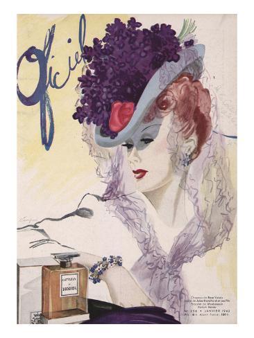 L'Officiel, January 1943 - Jules Blanchard Art Print