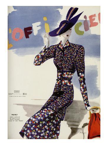 L'Officiel, May 1938 - Premet Art Print