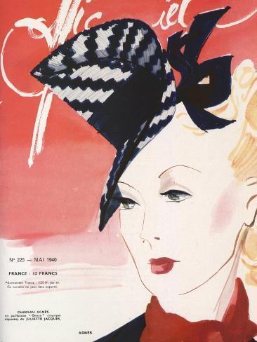 L'Officiel, May 1940 - Agnès Art Print