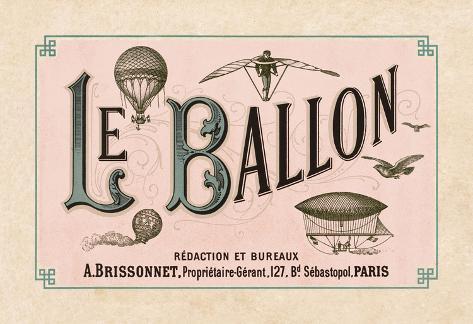Le Ballon, ca. 1883 Stretched Canvas Print