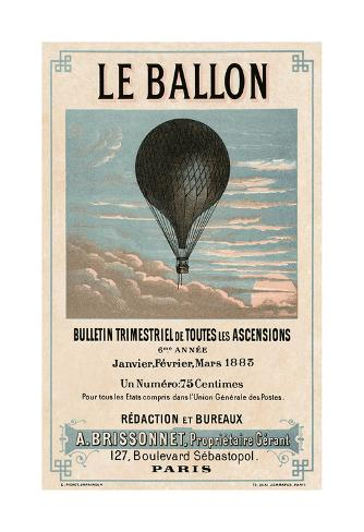 Le Ballon, Paris Stampa artistica