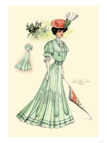 Le Bon Ton: Green for Springtime Stampa artistica