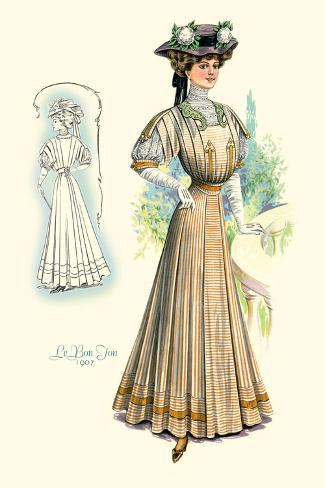 Le Bon Ton: Lady in Stripes Wall Decal