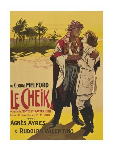 Le Cheik (The Sheik) Konstprint